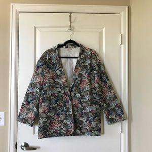 Vintage floral blazer, size M